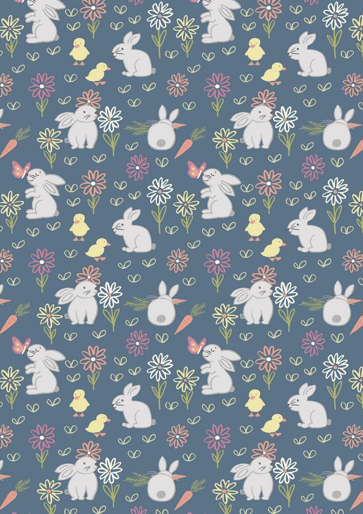 A148.3 - Bunny adventure on denim