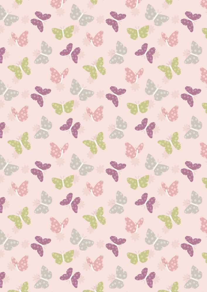 A149.2 - Butterflies on pink