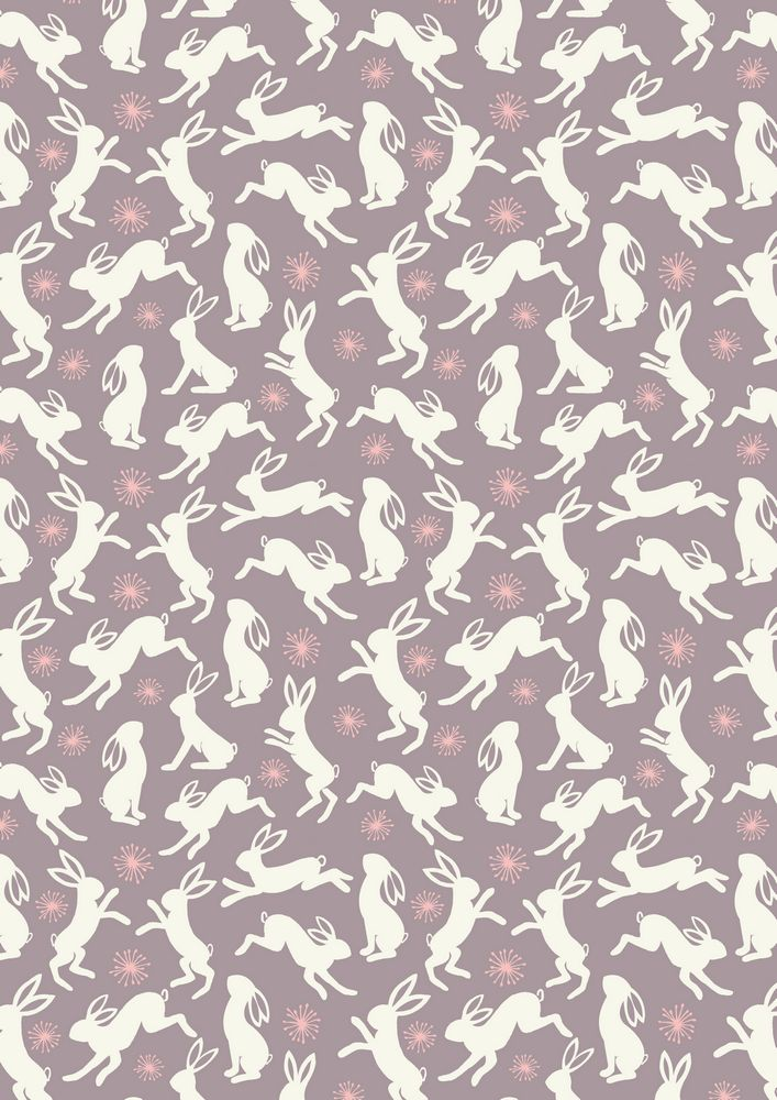 A62.3 - Dancing hares on grey