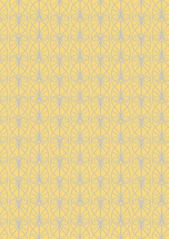 A71.2 - Parisian fretwork on yellow