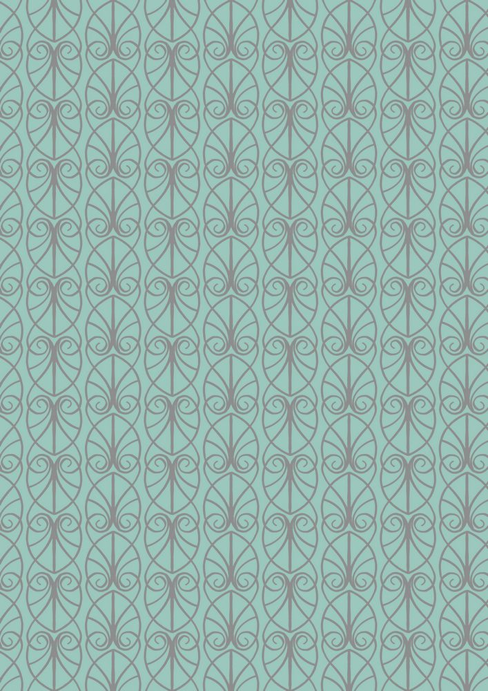 A71.3 - Parisian fretwork on aqua