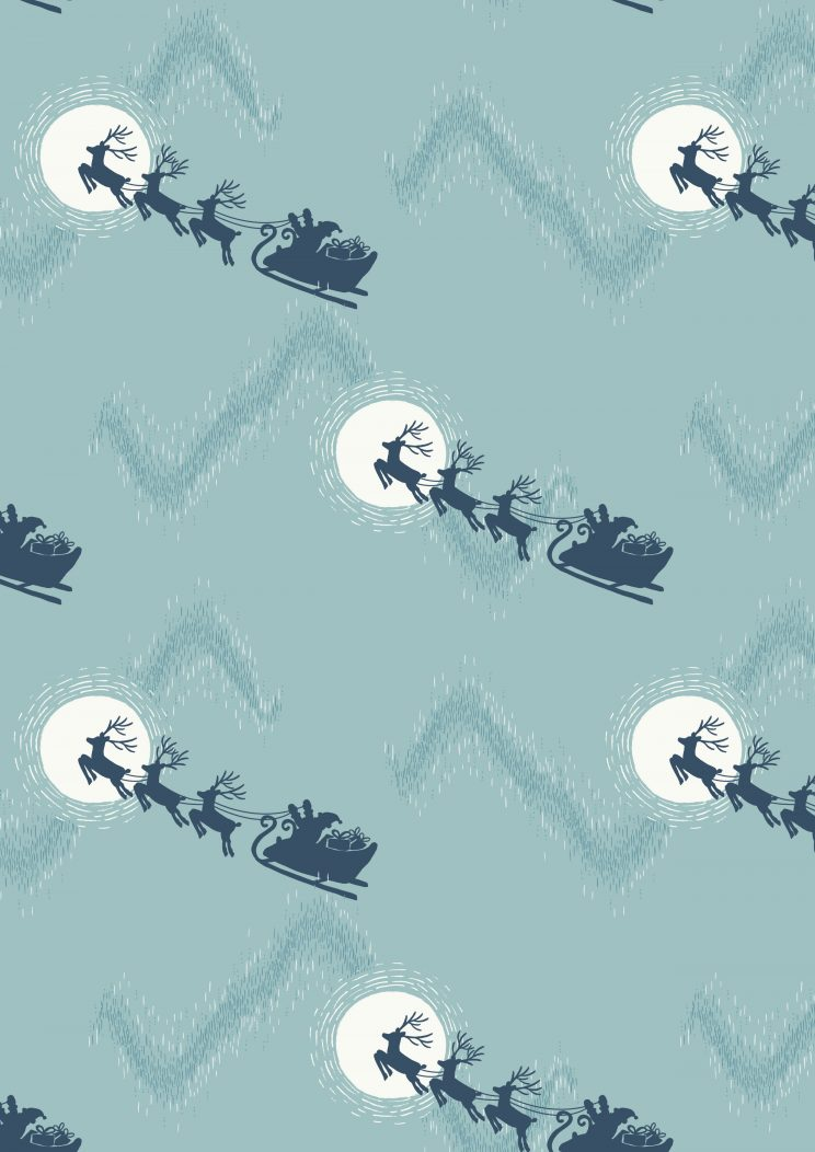 C1.2 - Santa's sleigh on icy blue