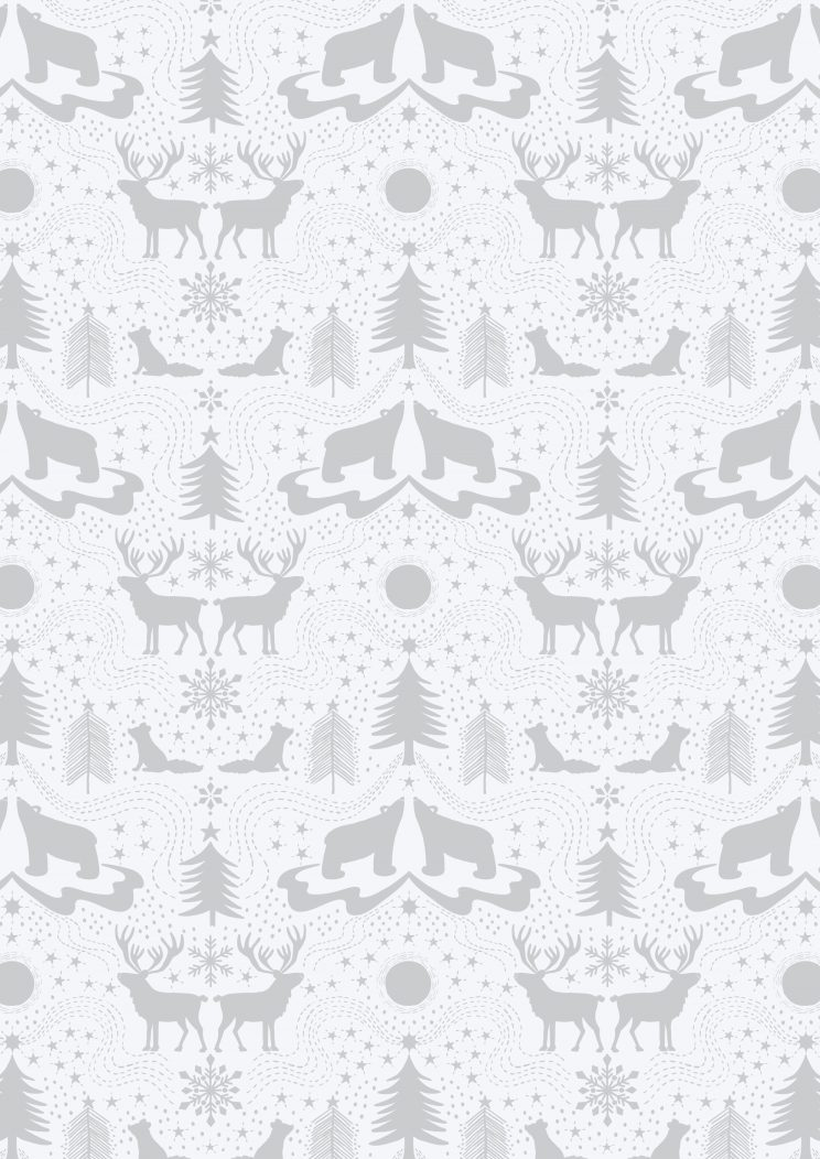 C5.1 - Arctic animals on white