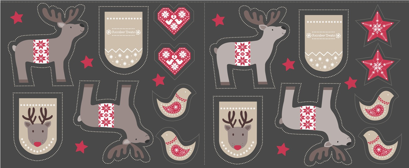 C6.1 - Cut me out reindeer on dark grey