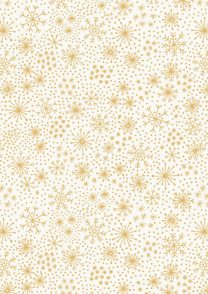 CHR8.1 - Gold snowflakes on snow (metallic)