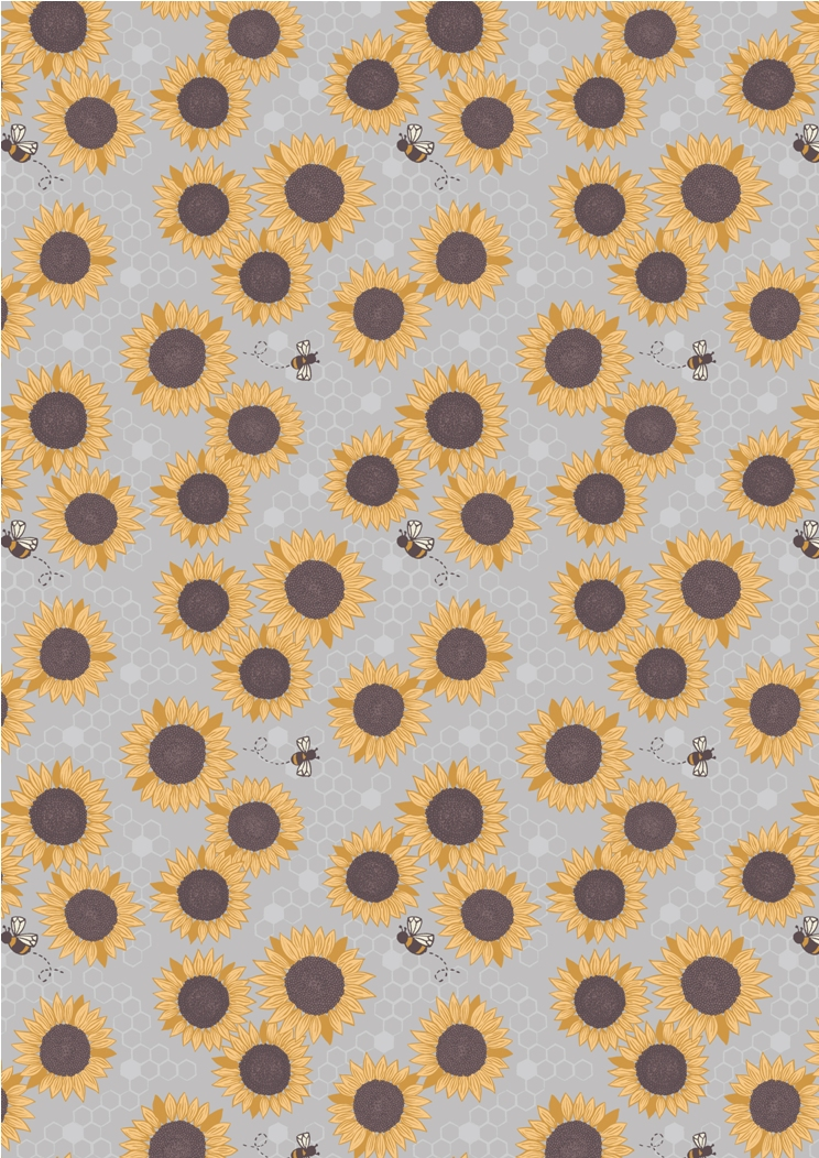 A211.3 - Sunflowers on grey