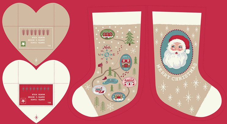 C22.1 - Parchment North Pole Stockings
