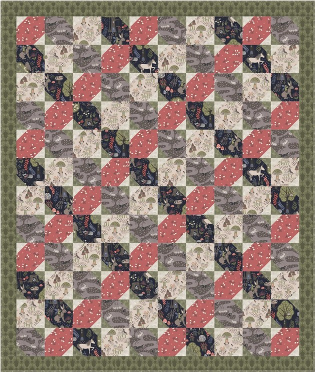 Enchanted forest quilt design 1