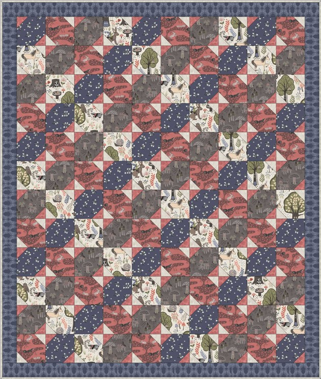 Enchanted forest quilt design 2