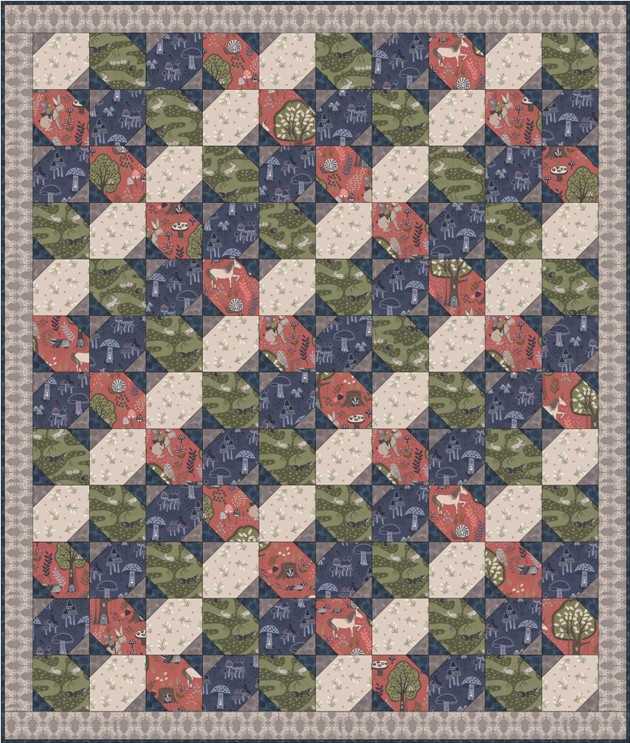 Enchanted forest quilt design 3
