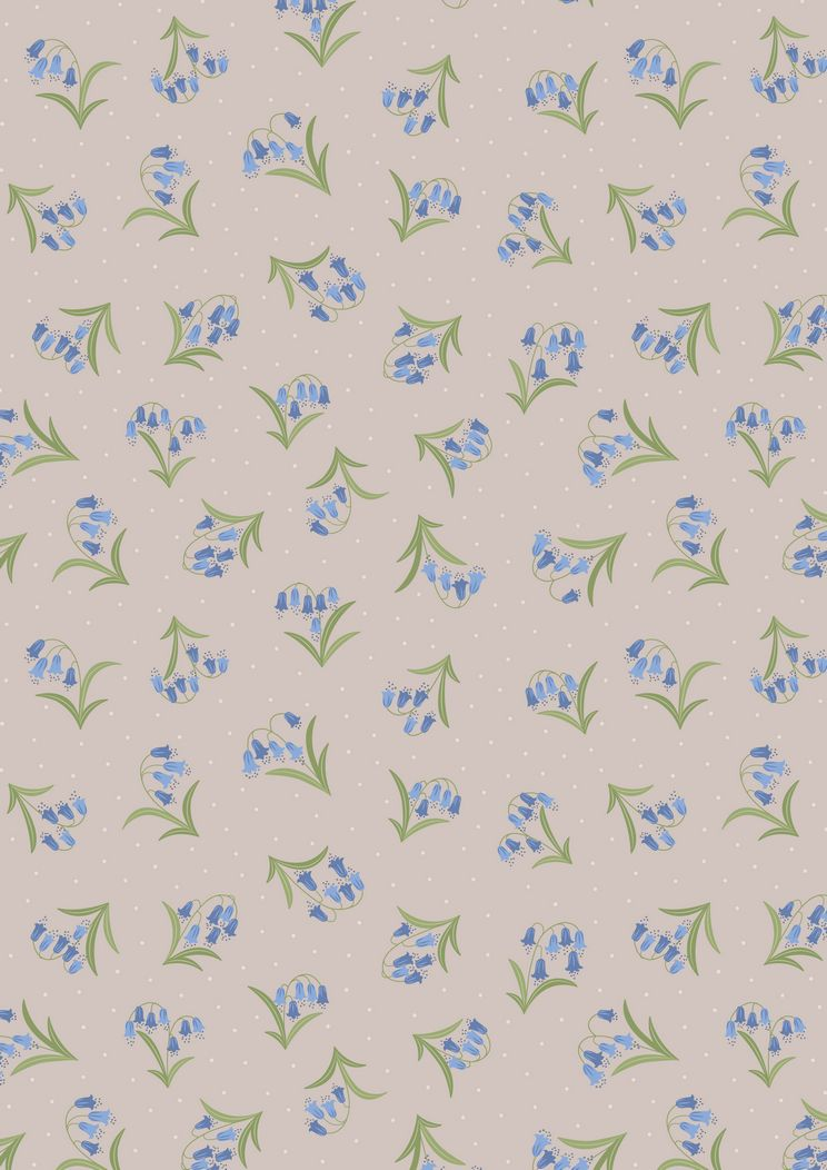 FLO10.1 - Bluebells on linen