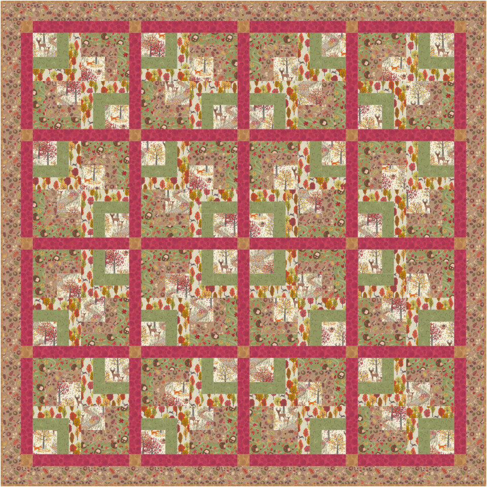 Autumn in Bluebell Wood Quilt