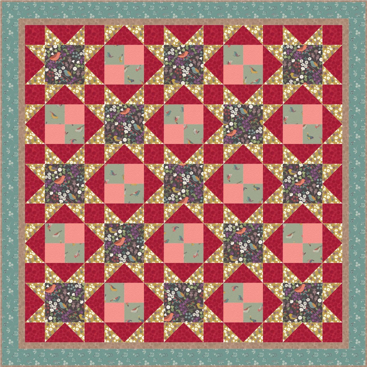 The Hedgerow Quilt Design 3