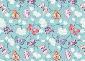 A265.2 - Lotus flowers on pale blue