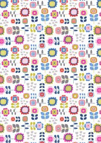 A279.1 - Summer flowers on white